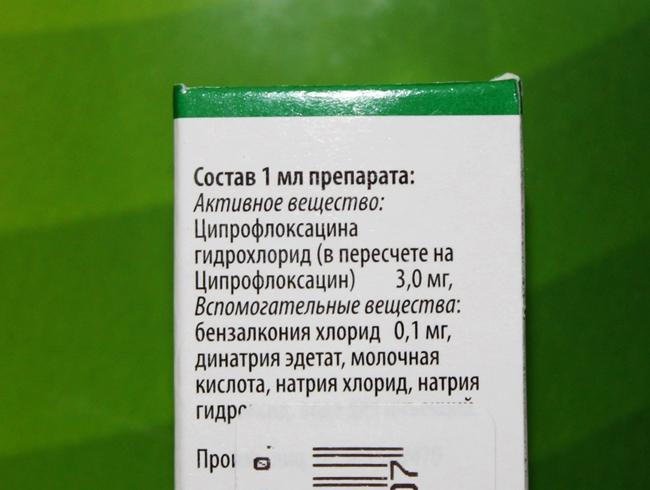 Ципромед - состав