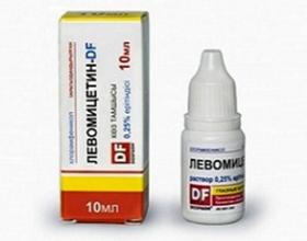 Левомицетин - капли глазные
