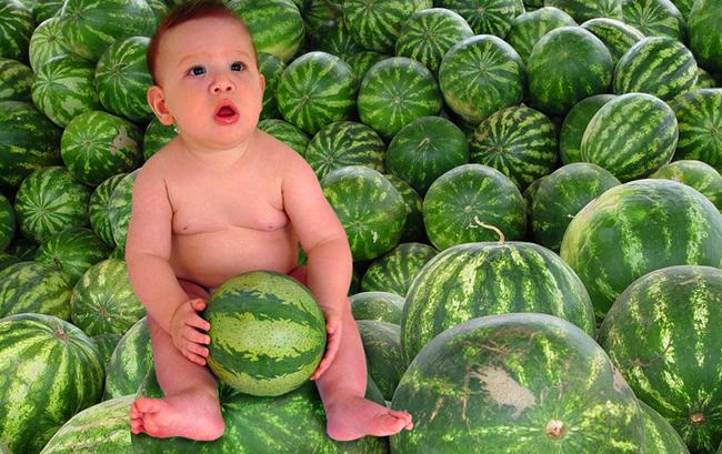 Малыш и арбузы