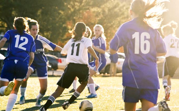 Подростки и футбол
