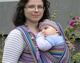 Слинг шарф для новорожденных