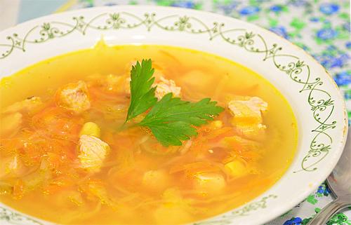 Куриный суп для малыша