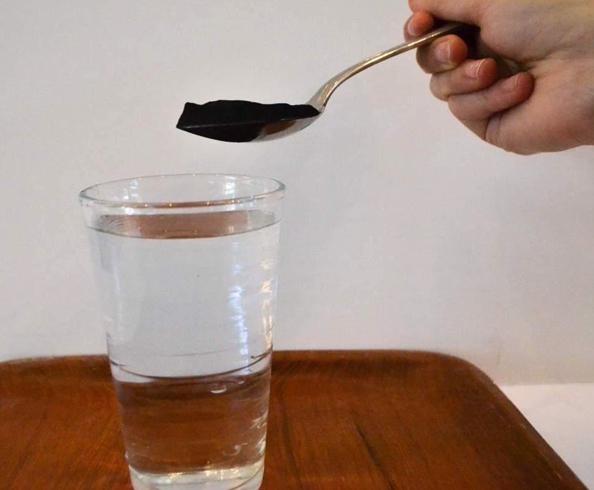 Уголь с водой