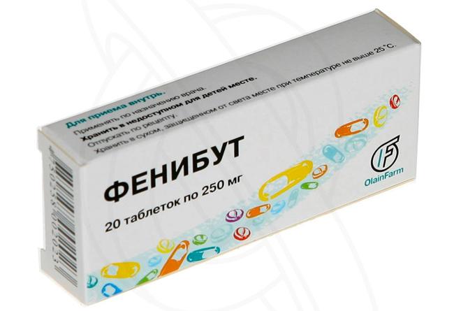 Фенибут - таблетки