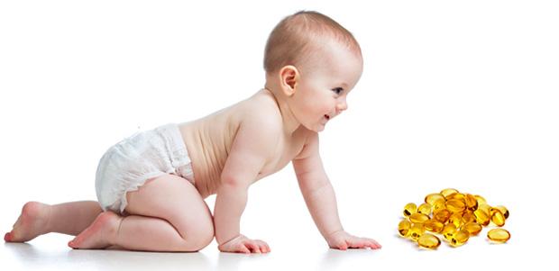 Ребенок и рыбий жир